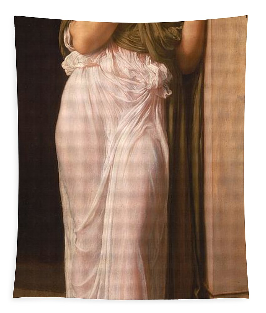 Leighton Tapestry featuring the painting Nausicaa by Frederic Leighton