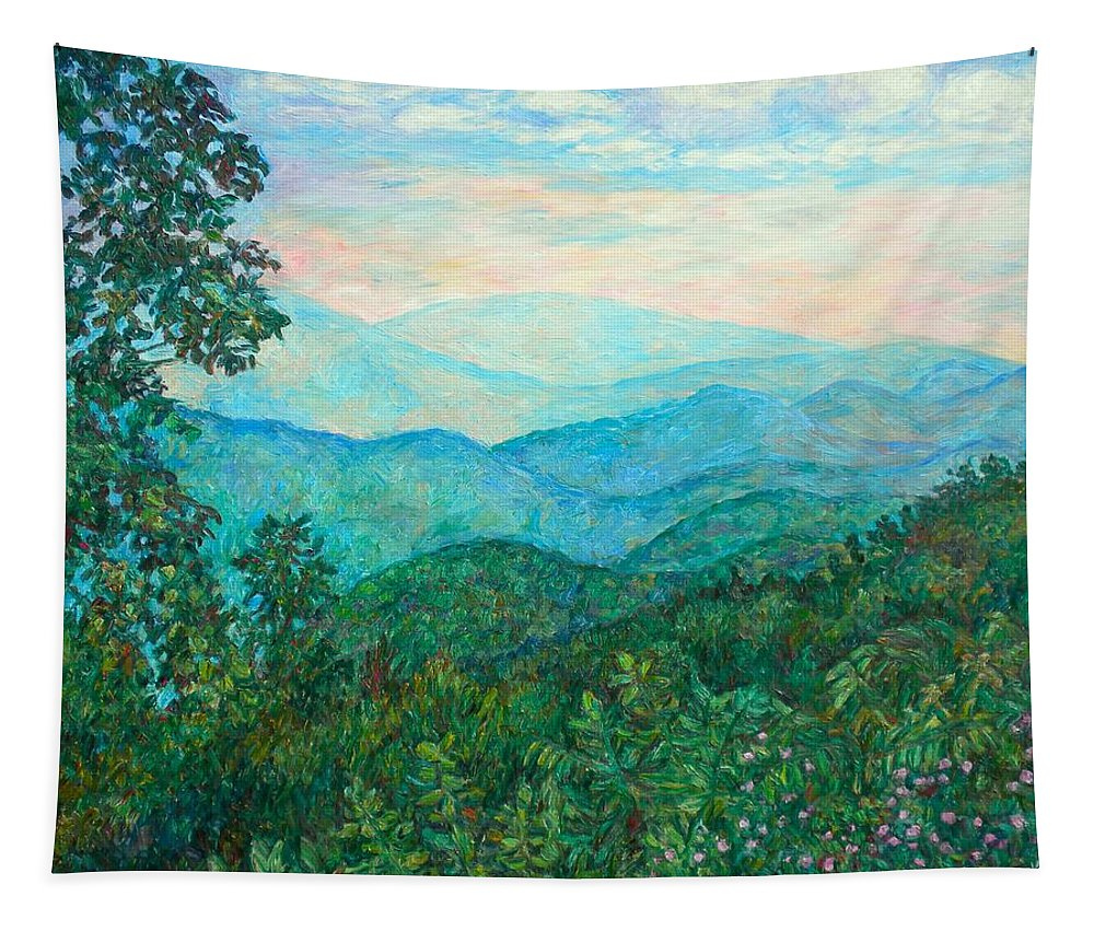 Landscape Tapestry featuring the painting Near Purgatory by Kendall Kessler