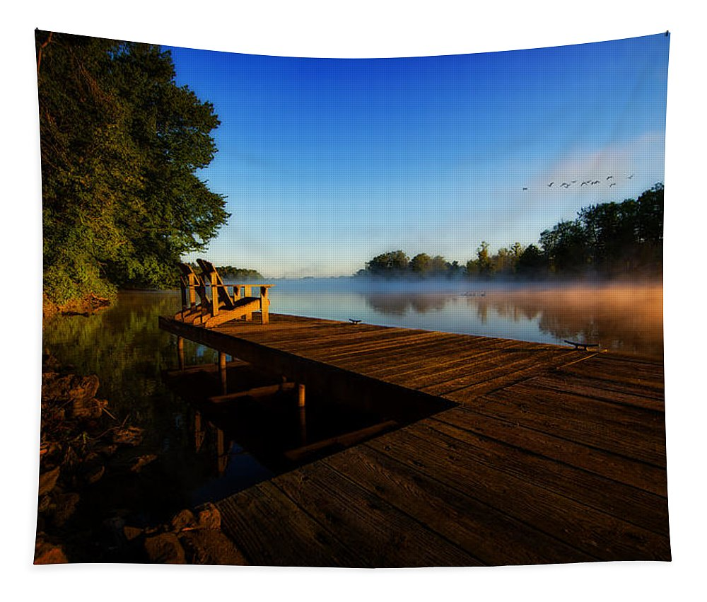 Sunrise Tapestry featuring the photograph New Day by Everet Regal