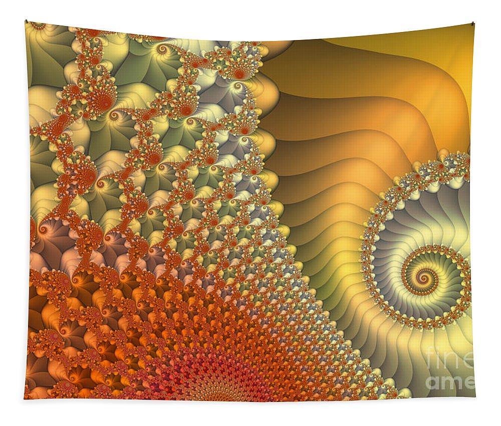 Fractal Tapestry featuring the digital art New Day by Jutta Maria Pusl