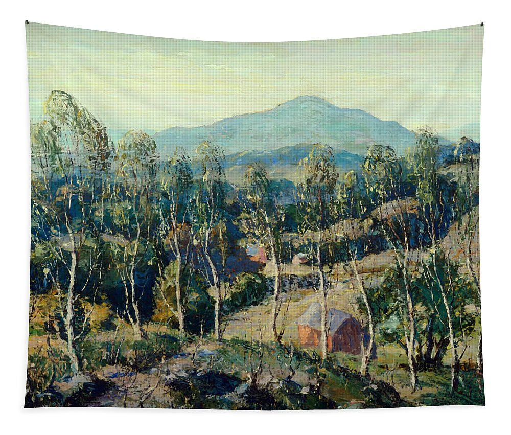 Painting Tapestry featuring the painting New England Birches by Mountain Dreams