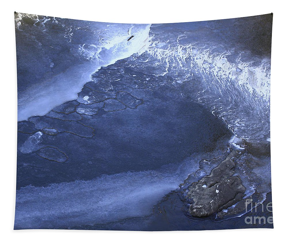 Water Tapestry featuring the photograph New Ice Blue by Deborah Benoit