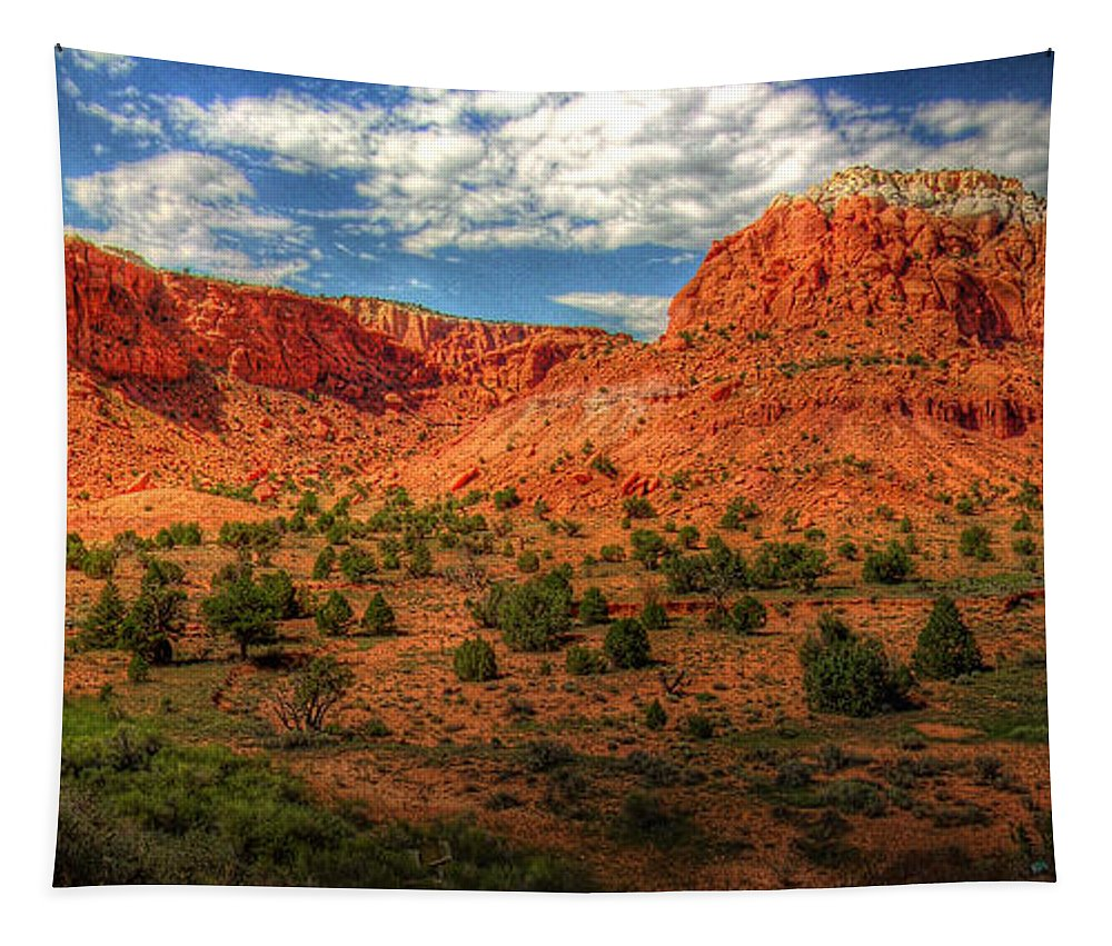 Hdr Tapestry featuring the photograph New Mexico Mountains 2 by Timothy Bischoff