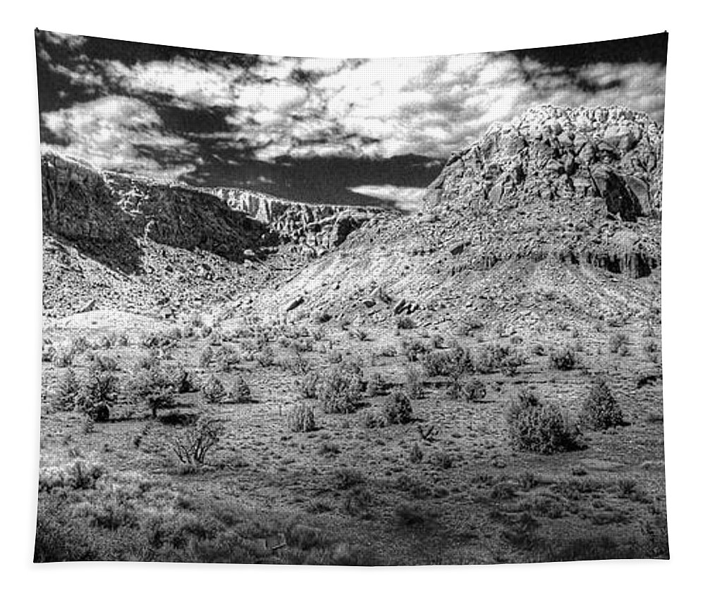 Hdr Tapestry featuring the photograph New Mexico Mountains by Timothy Bischoff
