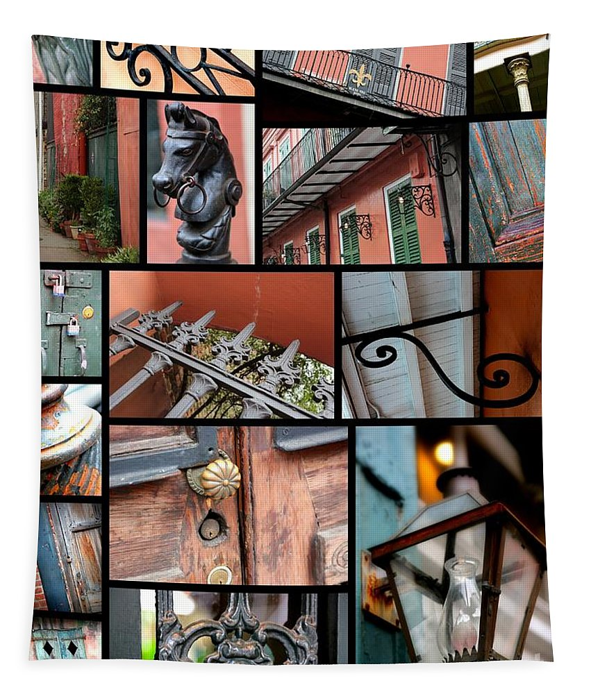 New Orleans Tapestry featuring the photograph New Orleans Collage 2 by Carol Groenen