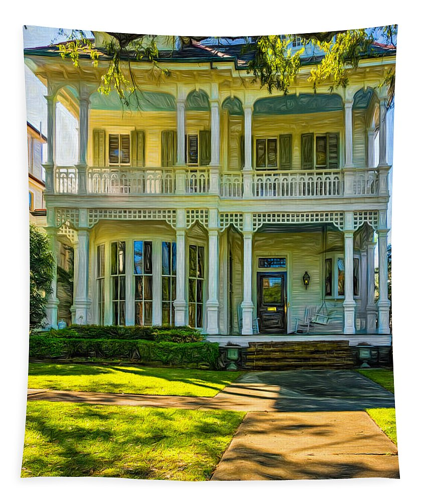Home Tapestry featuring the photograph New Orleans Home - Paint by Steve Harrington