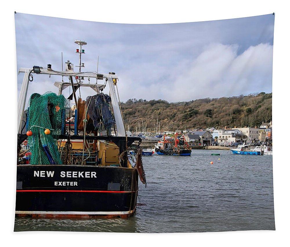 New Seeker Tapestry featuring the photograph New Seeker - Lyme Regis by Susie Peek