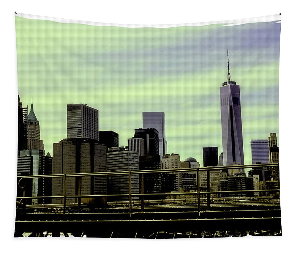 New World Trade Center Tapestry featuring the photograph New World Trade Center by Madeline Ellis