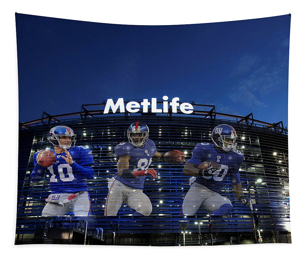 Giants Tapestry featuring the photograph New York Giants Metlife Stadium by Joe Hamilton