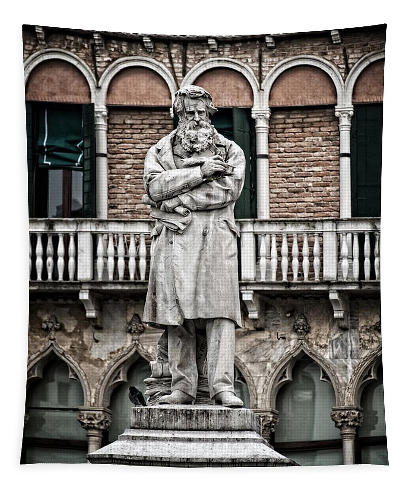Venice Tapestry featuring the photograph Nicolo Tommaseo by Delphimages Photo Creations