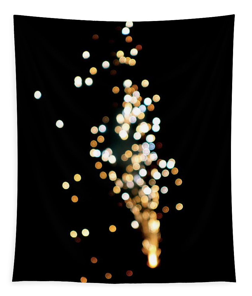 Firework Tapestry featuring the photograph Night Sparkle by Jacqueline Athmann