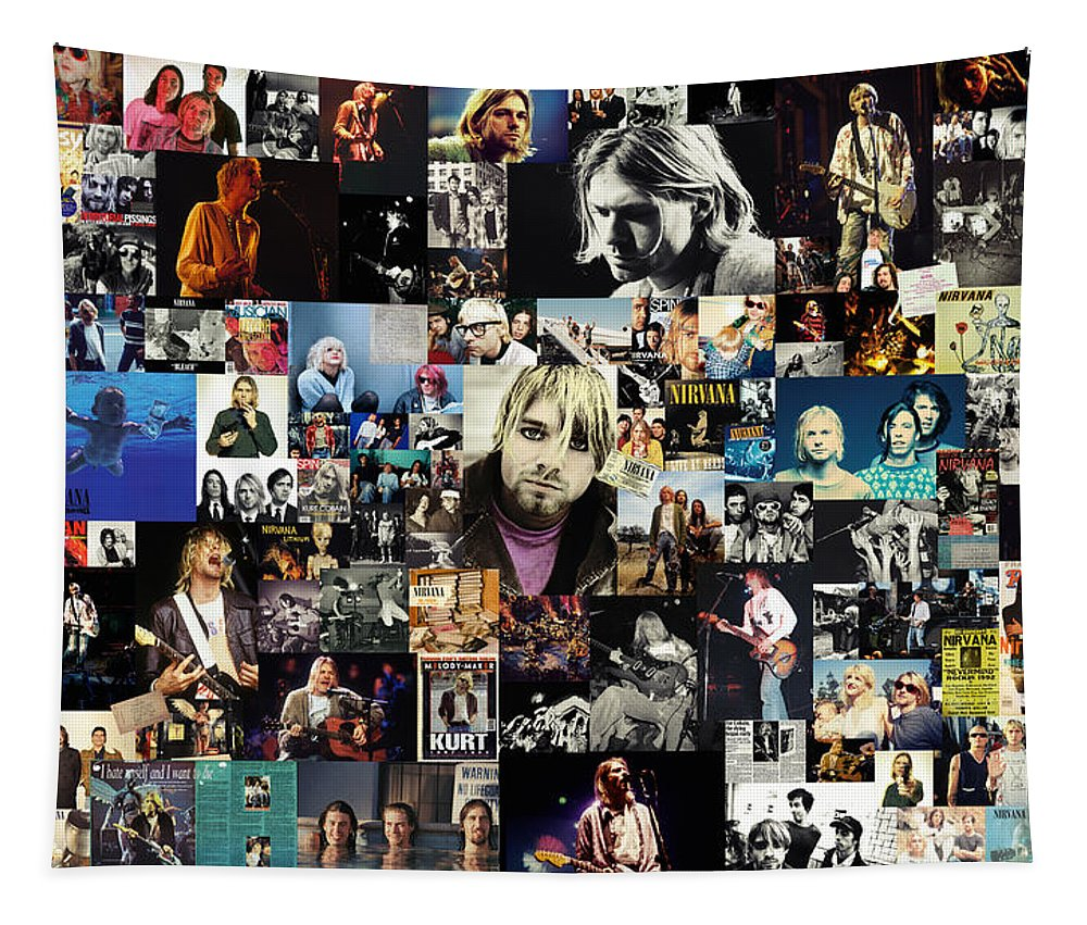 Nirvana Tapestry featuring the digital art Nirvana collage by Zapista OU