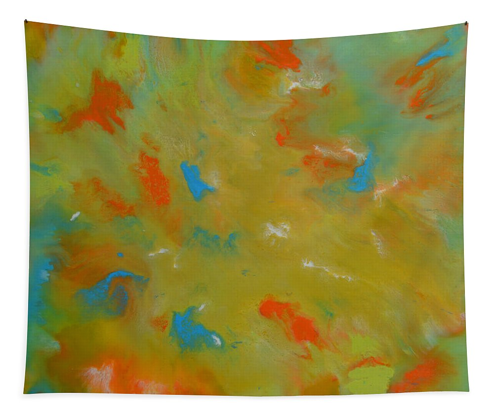 Abstract Tapestry featuring the painting No 75 by James Pinkerton