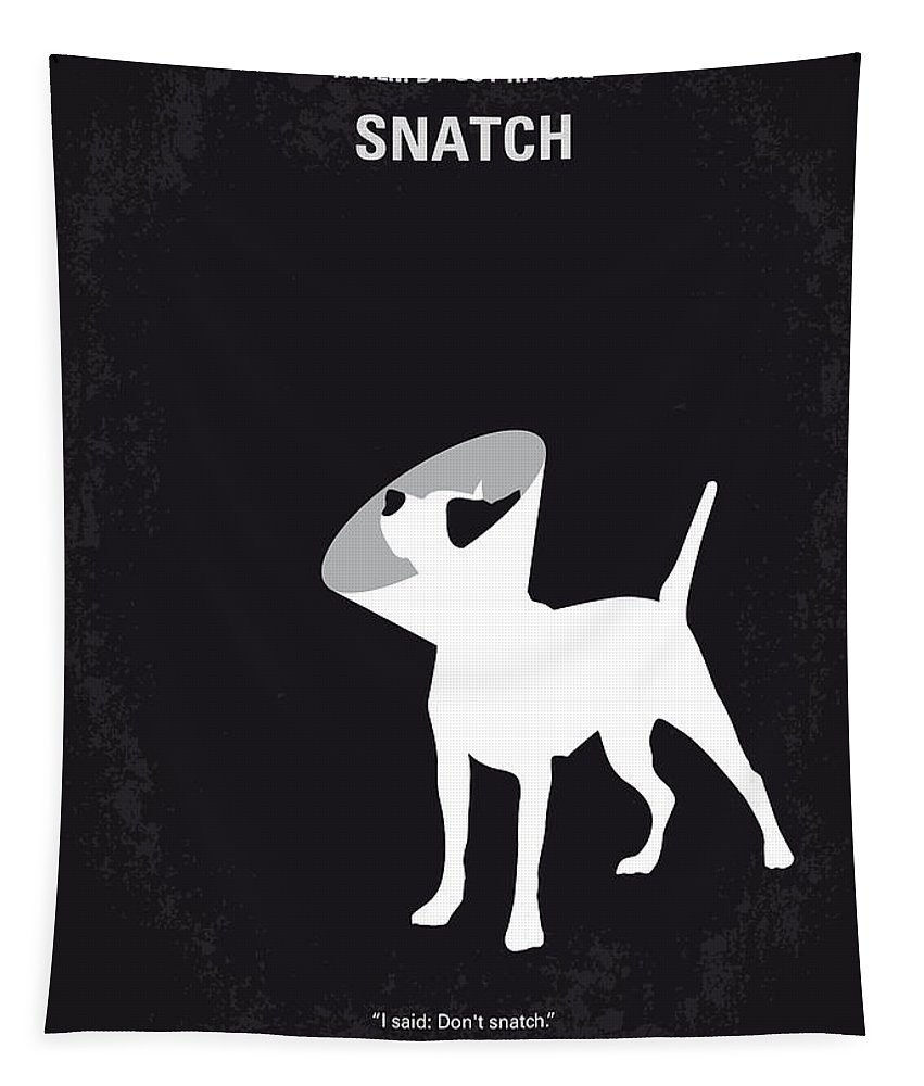 Snatch Tapestry featuring the digital art No079 My Snatch minimal movie poster by Chungkong Art