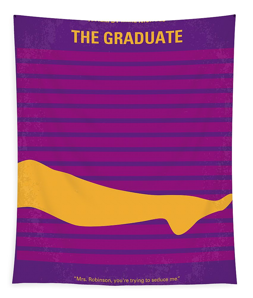 The Tapestry featuring the digital art No135 My THE GRADUATE minimal movie poster by Chungkong Art