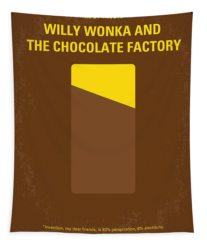 Willy Tapestry featuring the digital art No149 My Willy Wonka And The Chocolate Factory Minimal Movie Poster by Chungkong Art