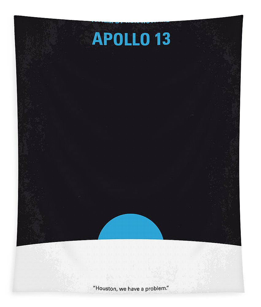 Apollo Tapestry featuring the digital art No151 My Apollo 13 Minimal Movie Poster by Chungkong Art