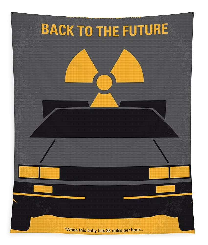 Back Tapestry featuring the digital art No183 My Back to the Future minimal movie poster by Chungkong Art