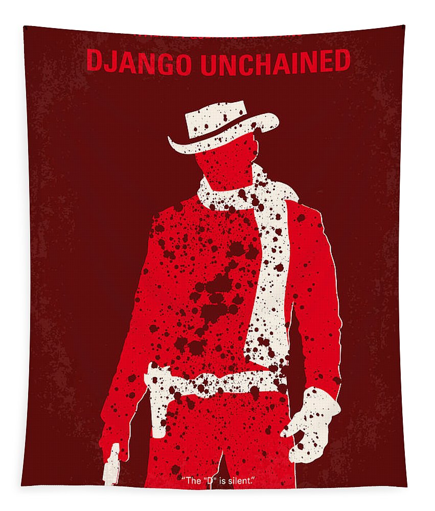 Django Tapestry featuring the digital art No184 My Django Unchained Minimal Movie Poster by Chungkong Art