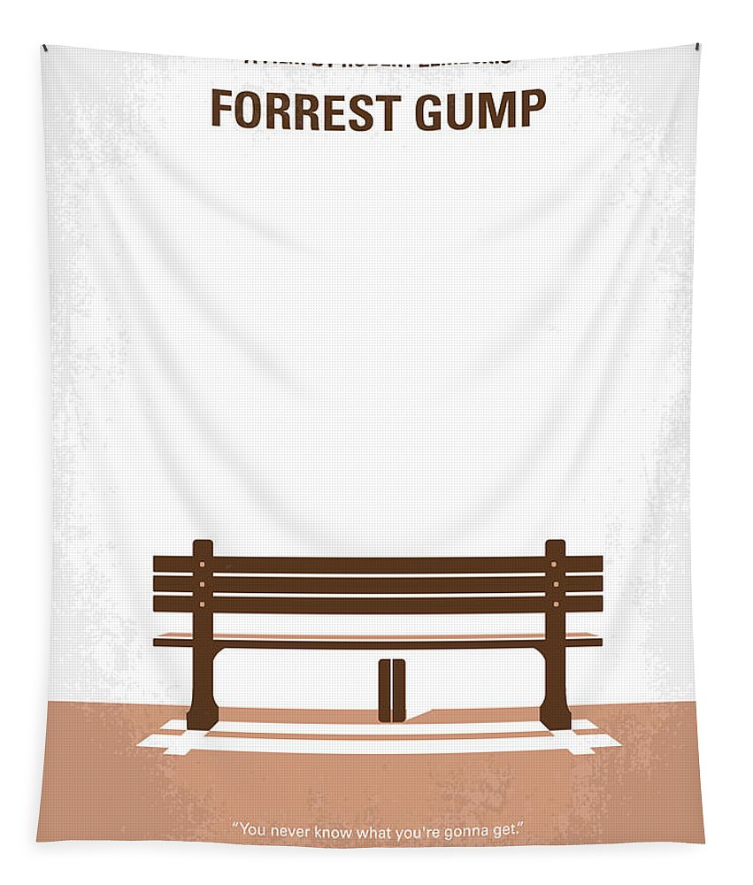 Forrest Tapestry featuring the digital art No193 My Forrest Gump minimal movie poster by Chungkong Art