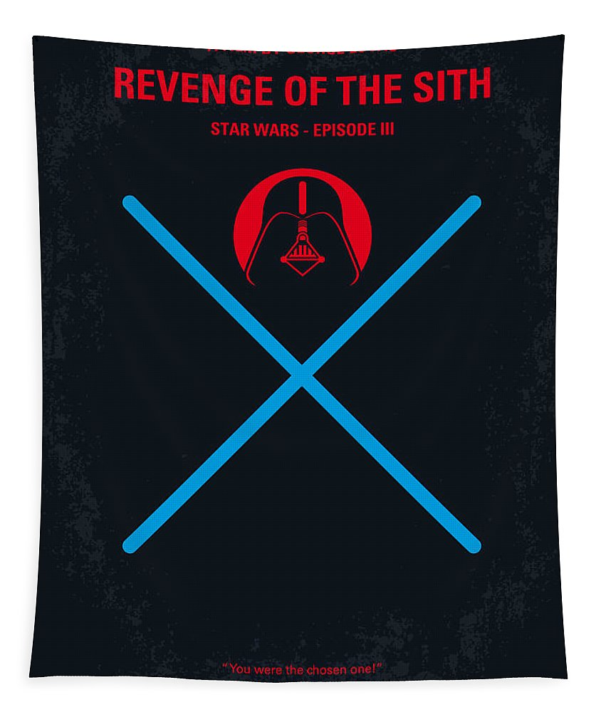 Tar Tapestry featuring the digital art No225 My Star Wars Episode IIi Revenge Of The Sith Minimal Movie Poster by Chungkong Art