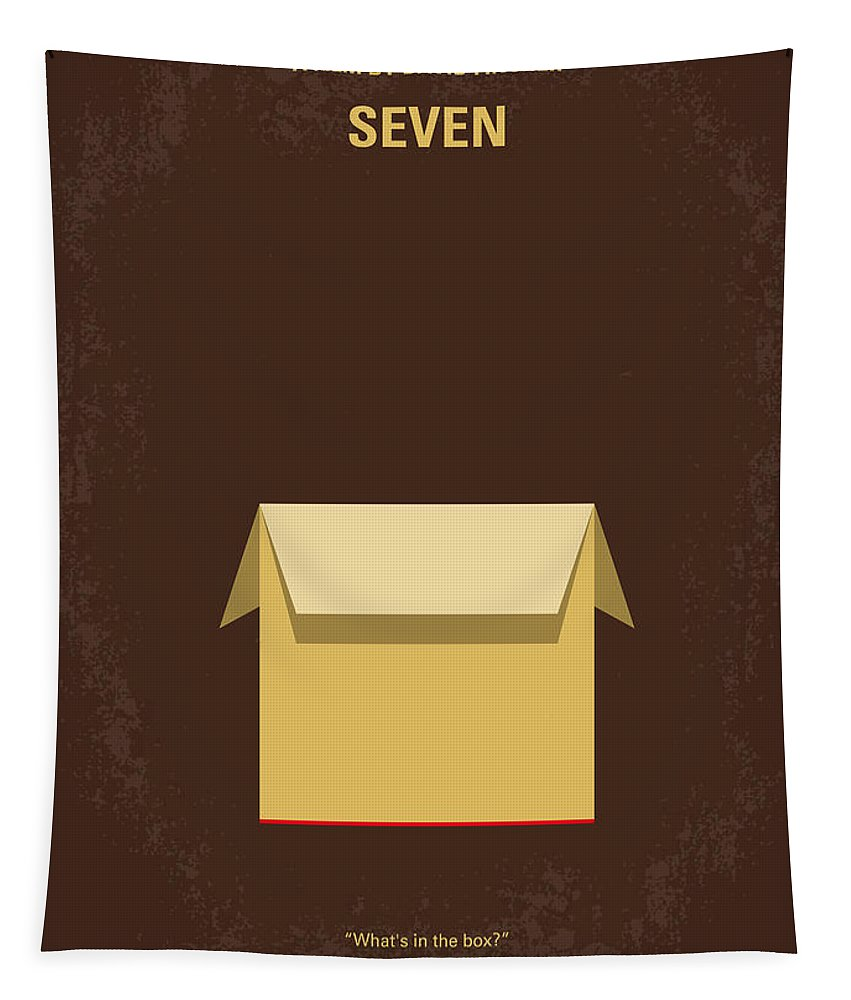 Seven Tapestry featuring the digital art No233 My Seven Minimal Movie Poster by Chungkong Art