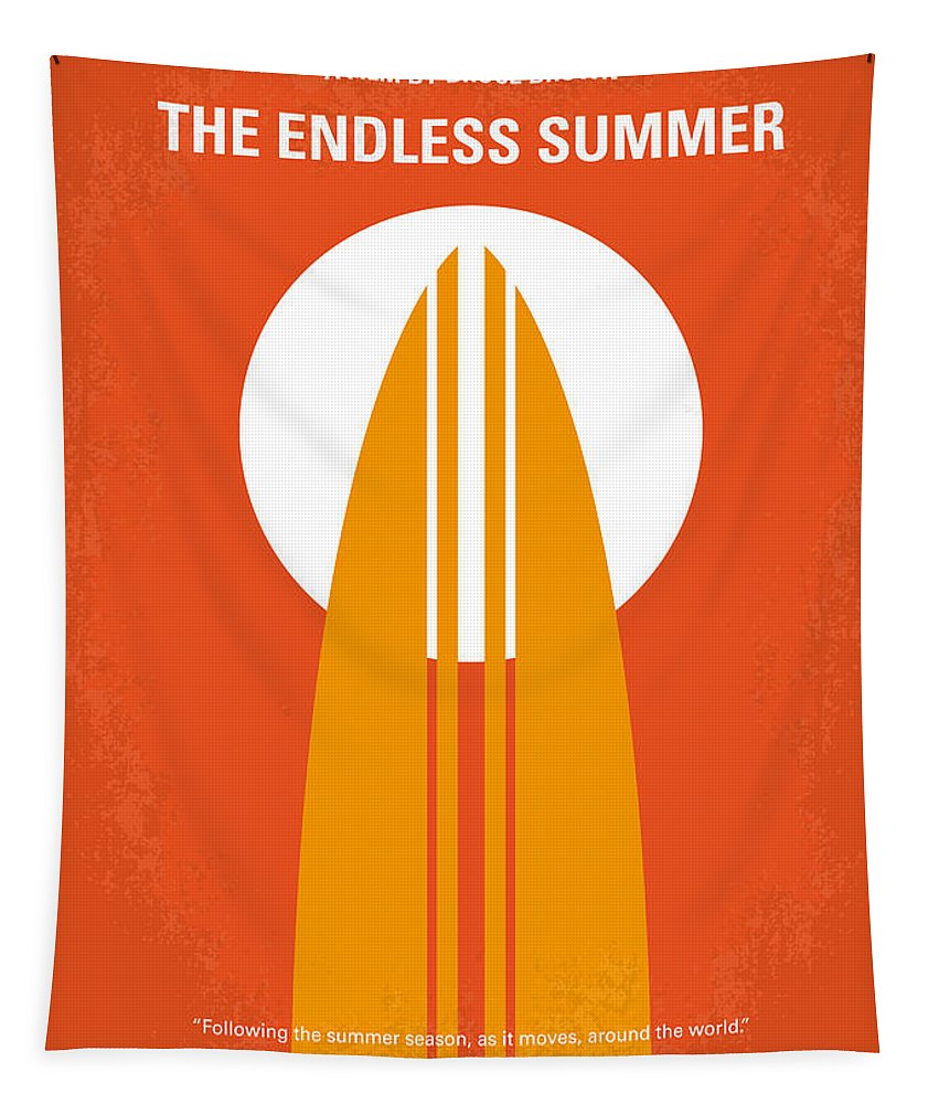 Endless Tapestry featuring the digital art No274 My The Endless Summer minimal movie poster by Chungkong Art