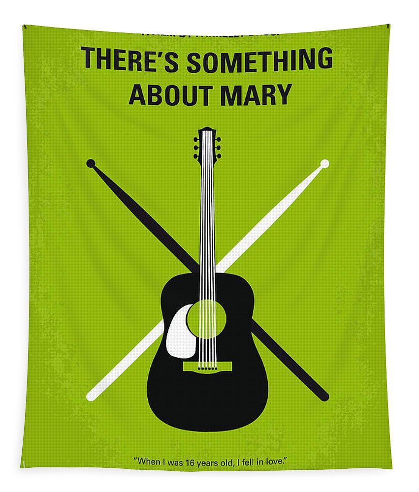 There's Tapestry featuring the digital art No286 My There's Something About Mary Minimal Movie Poster by Chungkong Art
