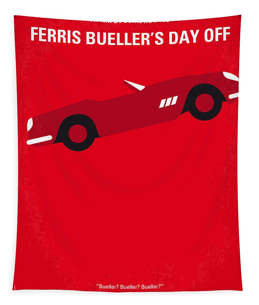 Ferris Tapestry featuring the digital art No292 My Ferris Bueller's day off minimal movie poster by Chungkong Art