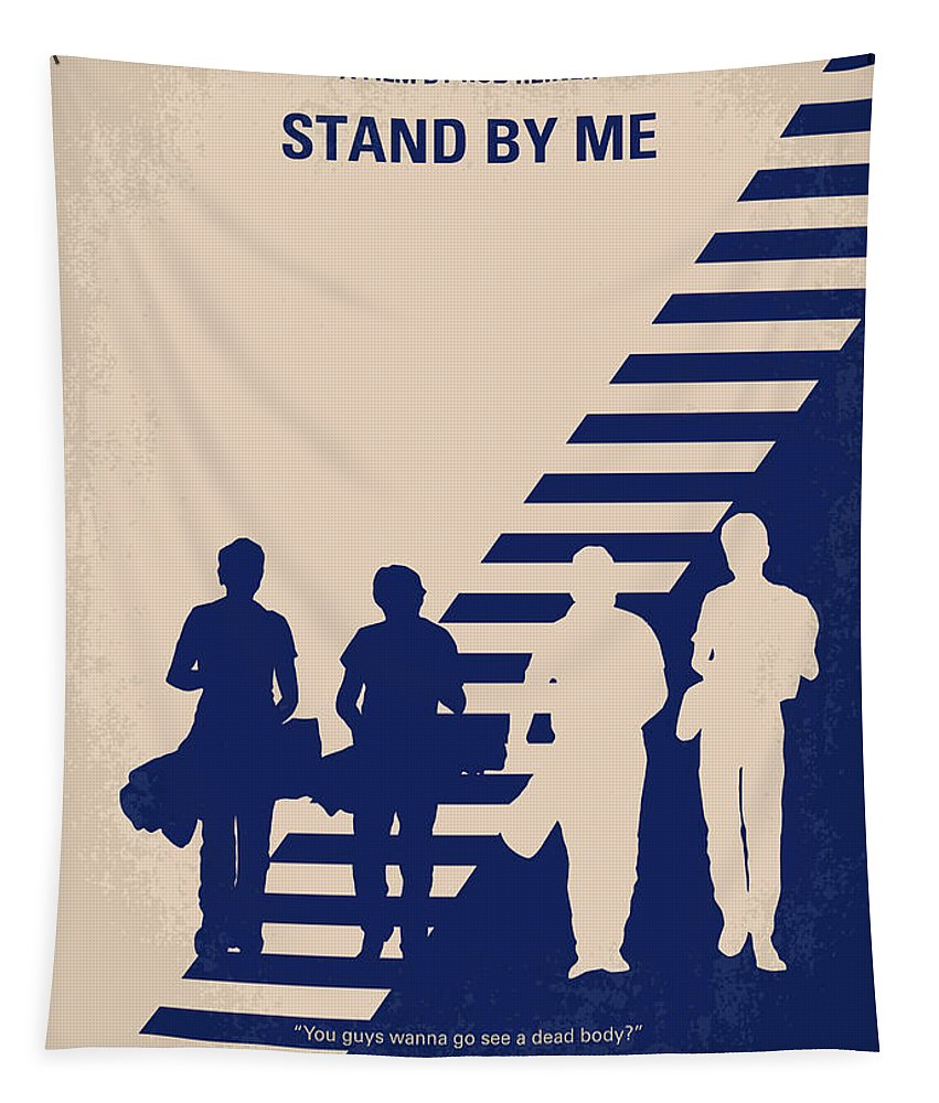 Stand Tapestry featuring the digital art No429 My Stand By Me Minimal Movie Poster by Chungkong Art