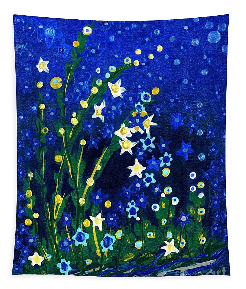 Nocturne Tapestry featuring the painting Nocturne by Holly Carmichael