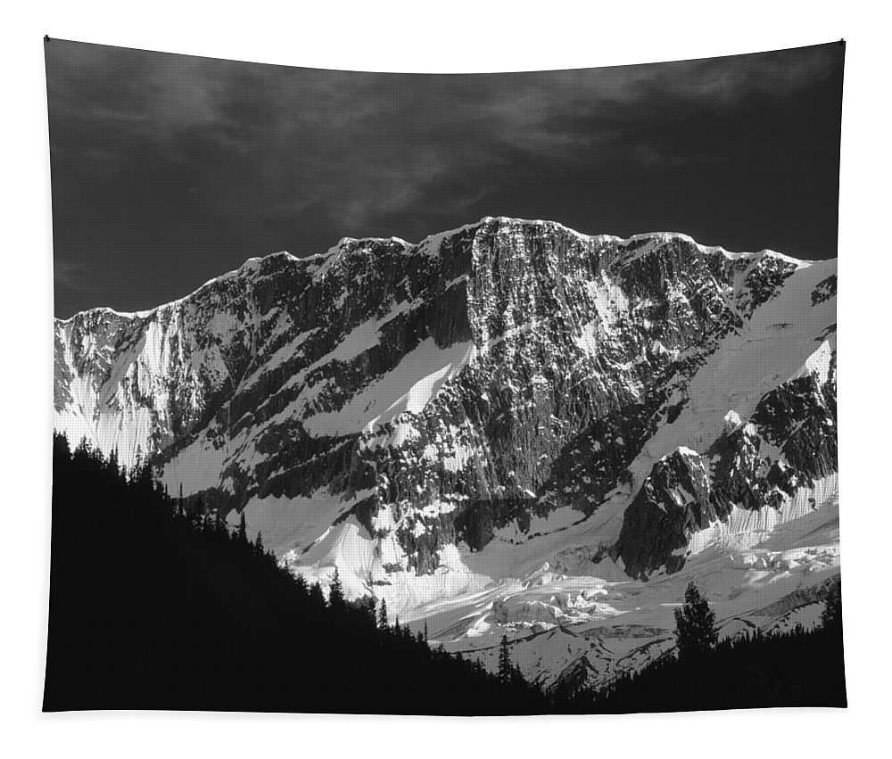 North Face Mt. Bonney Tapestry featuring the photograph 1m2616-bw-north Face Mt. Bonney by Ed Cooper Photography