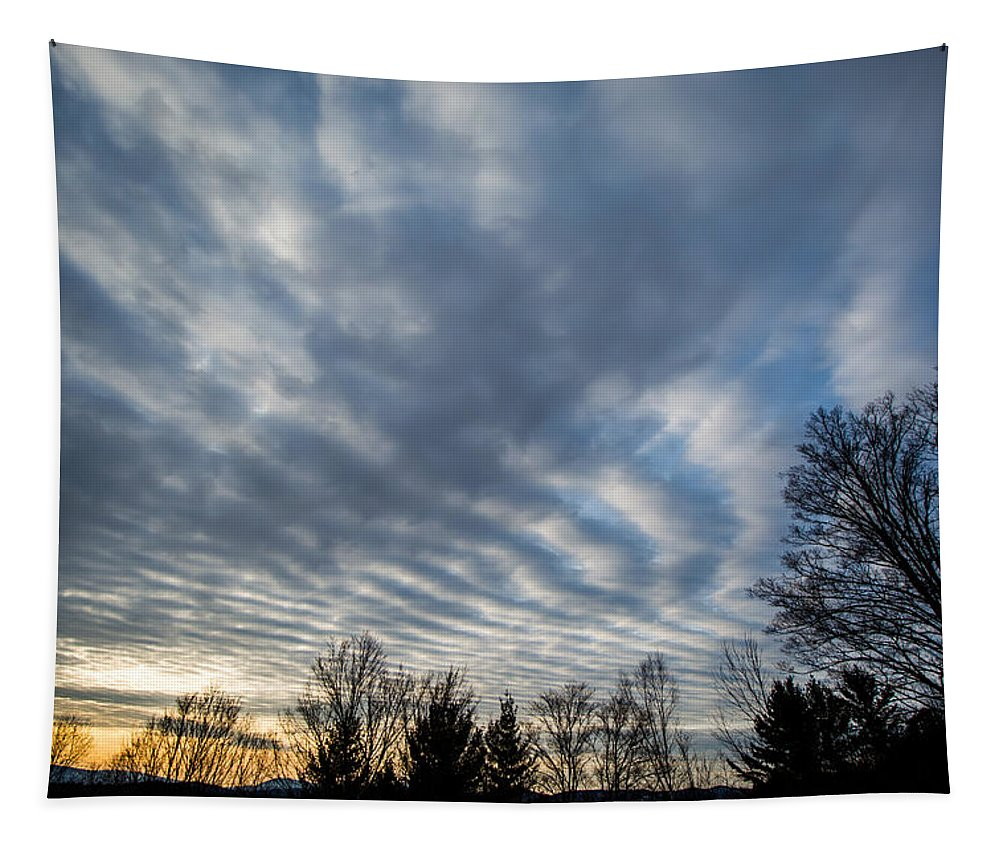 Sky Tapestry featuring the photograph Not Yet Spring Sunrise by Sherman Perry