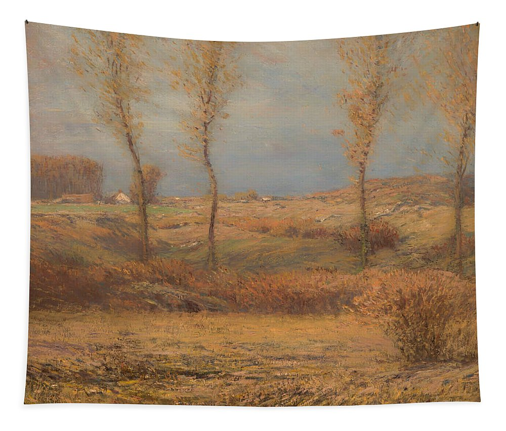 Painting Tapestry featuring the painting November Morning by Mountain Dreams