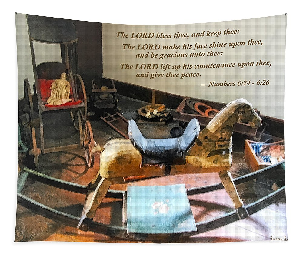 Religious Tapestry featuring the photograph Numbers 6 24-26 The Lord Bless Thee And Keep Thee by Susan Savad