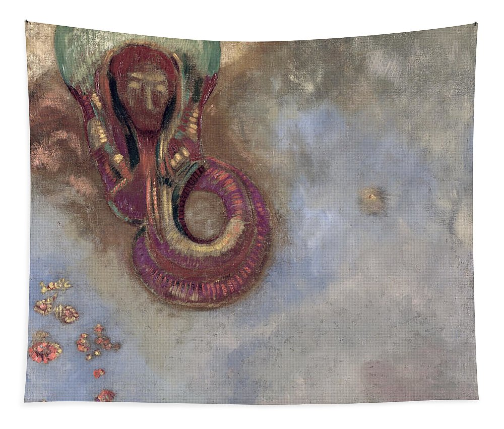 Symbolist Tapestry featuring the painting Oannes by Odilon Redon