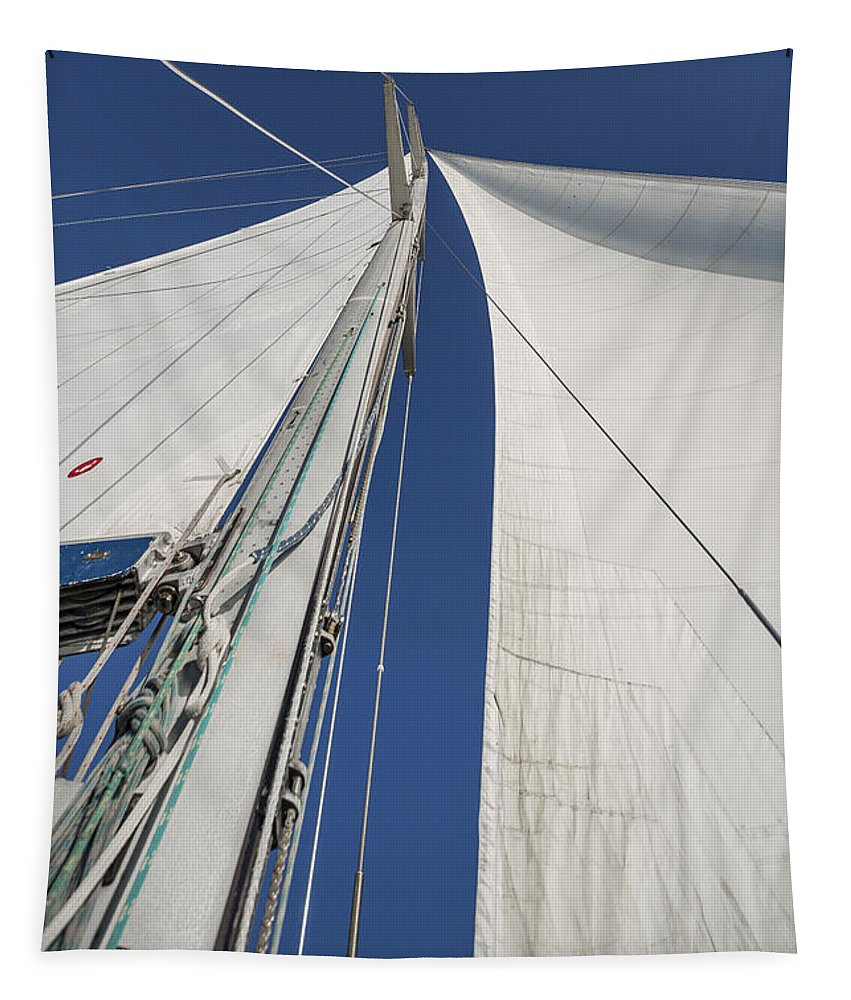 Sails Tapestry featuring the photograph Obsession Sails 2 by Scott Campbell