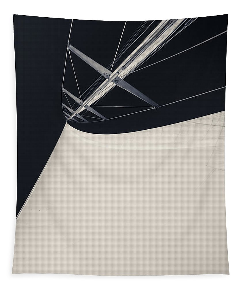 Sails Tapestry featuring the photograph Obsession Sails 4 Black And White by Scott Campbell