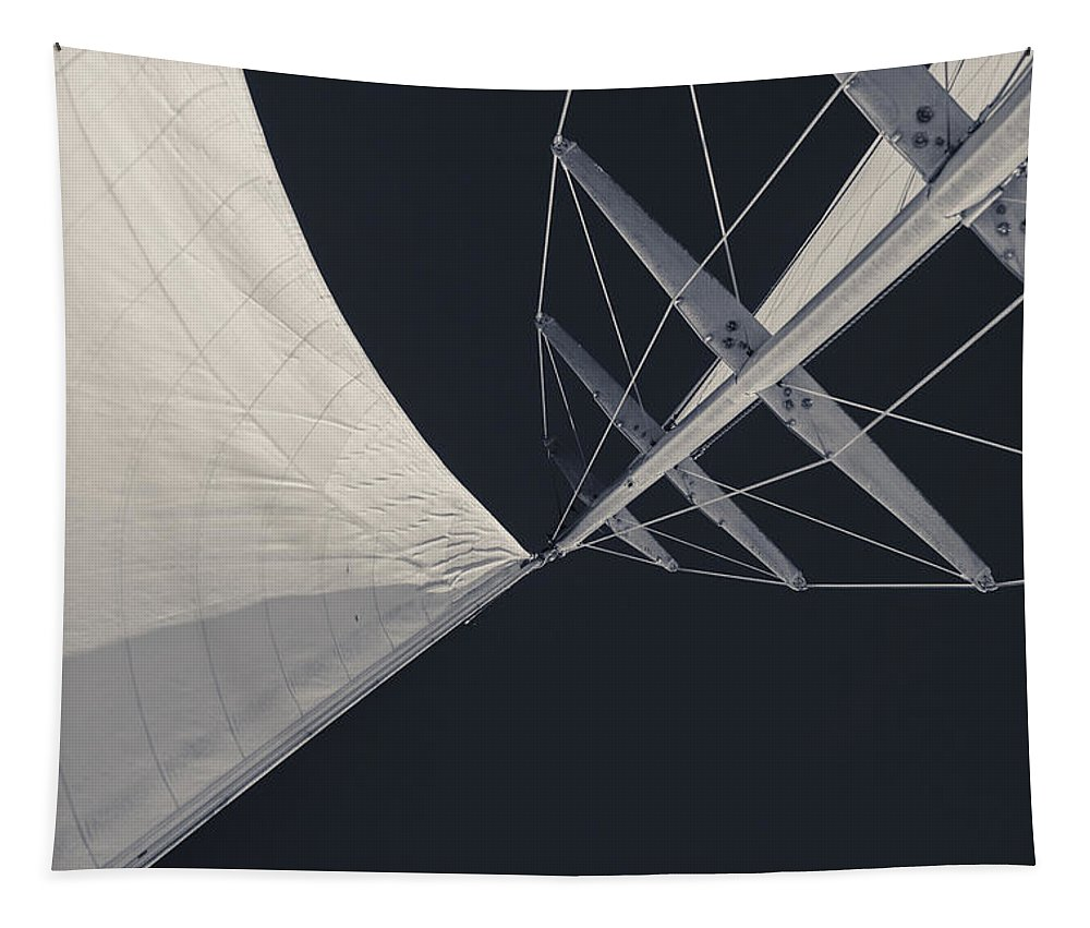 Sails Tapestry featuring the photograph Obsession Sails 8 Black And White by Scott Campbell