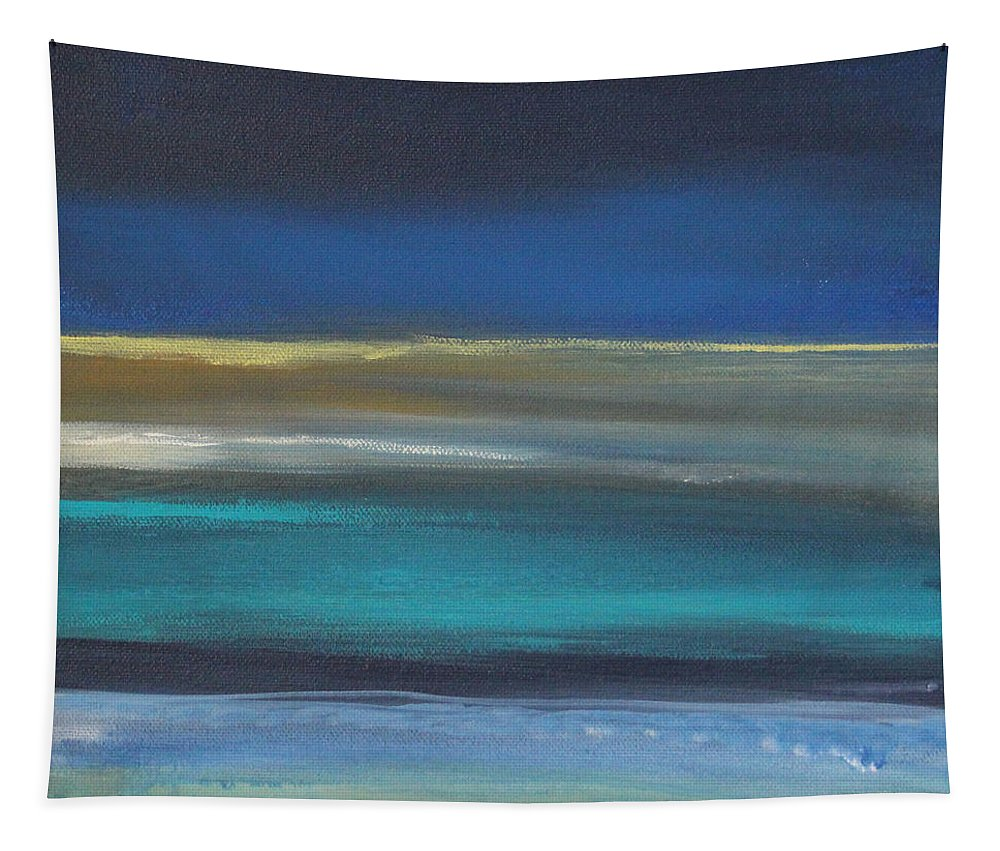Abstract Painting Tapestry featuring the painting Ocean Blue 2 by Linda Woods