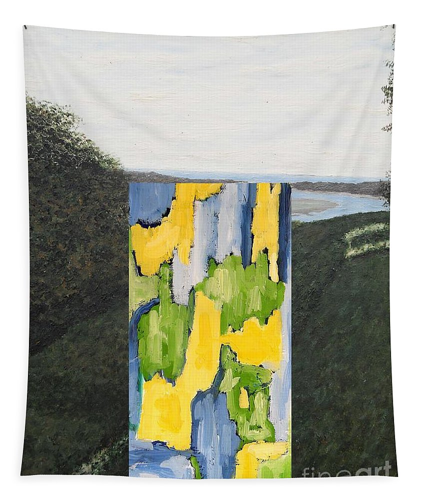 Landscapes Tapestry featuring the painting Ocean View 3 by Patrick J Murphy