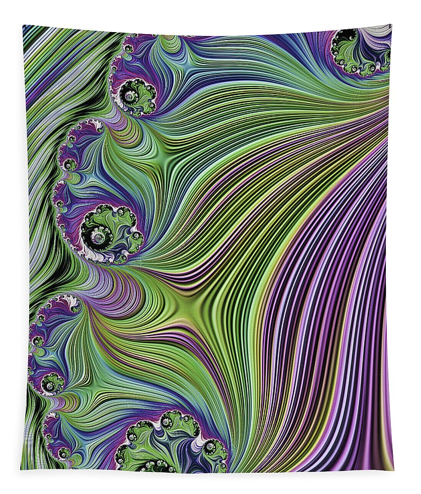 Fractal Tapestry featuring the photograph Ocean Waves by Steve Purnell