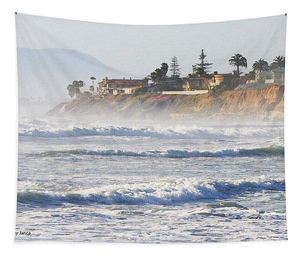 Oceanside California Tapestry featuring the photograph Oceanside California by Tom Janca