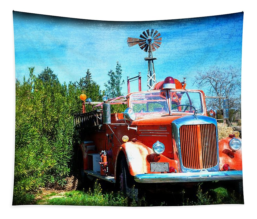 Mack Tapestry featuring the photograph Of Days Gone By by Lynn Bauer