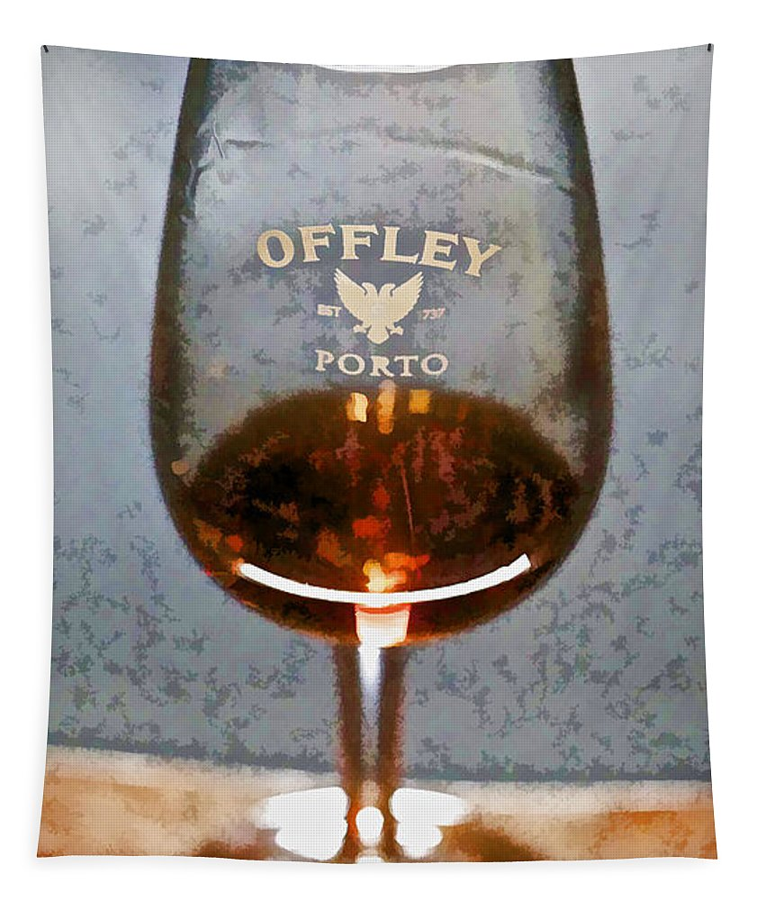 Europe Tapestry featuring the photograph Offley Port Wine Glass by David Letts