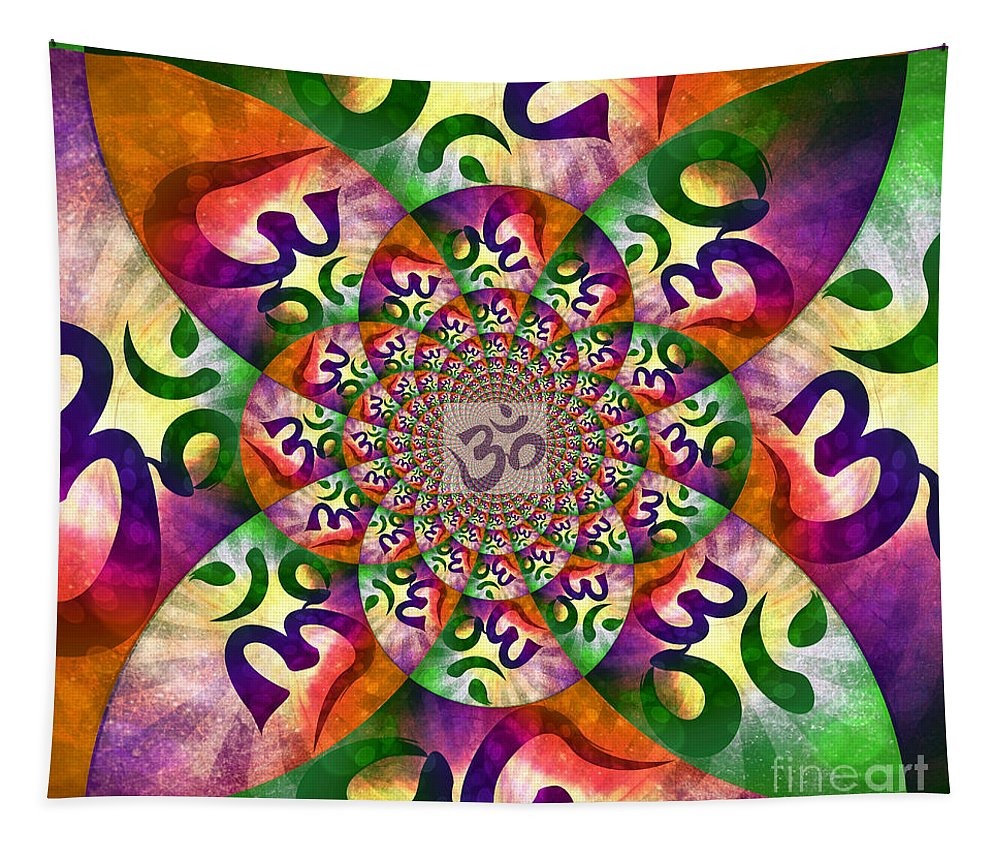 Ohm Tapestry featuring the digital art Ohm by Binka Kirova