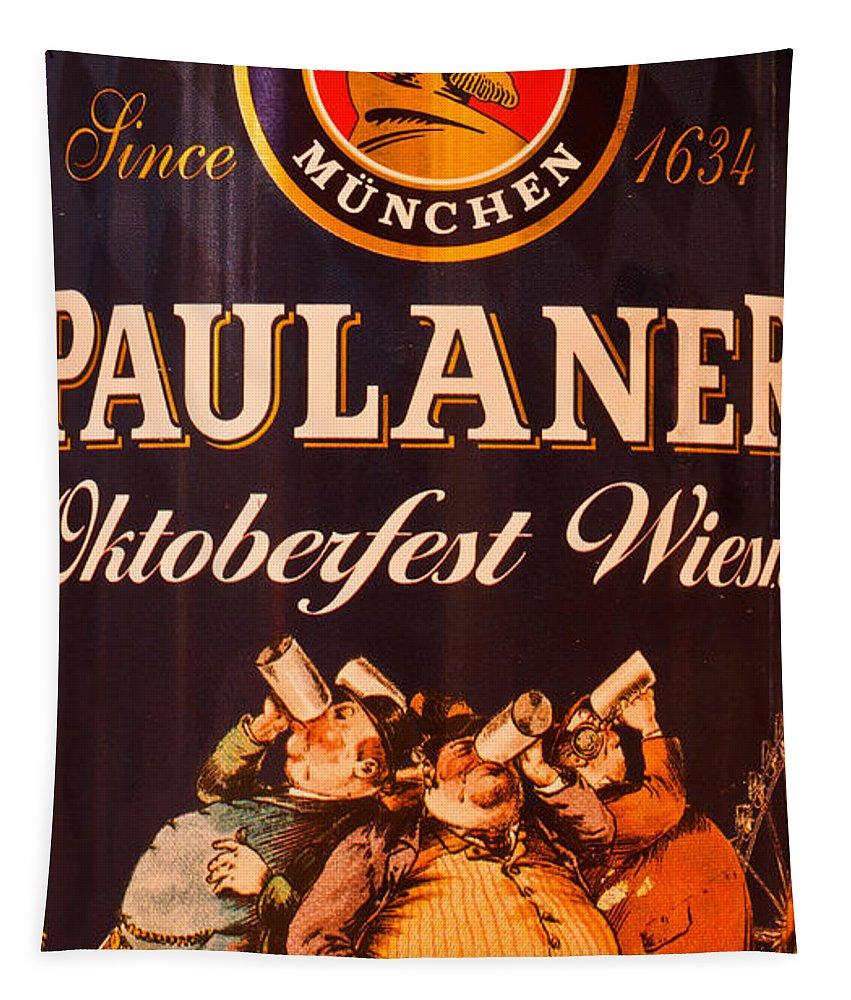 Oktoberfest Wiesn Tapestry featuring the photograph Oktoberfest Wiesn by Mitch Shindelbower