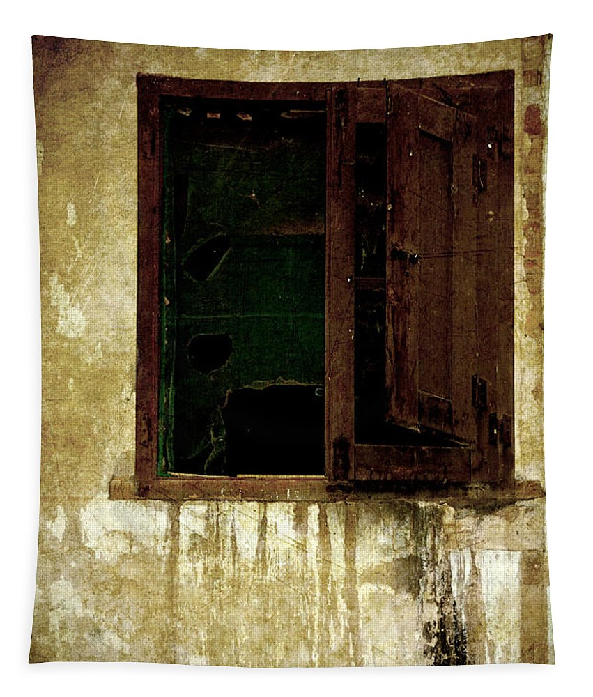 Grunge Tapestry featuring the photograph Old And Decrepit Window by RicardMN Photography
