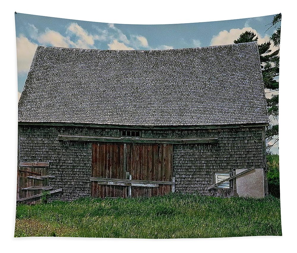 Barn Tapestry featuring the photograph Old Barn by Anthony Dezenzio
