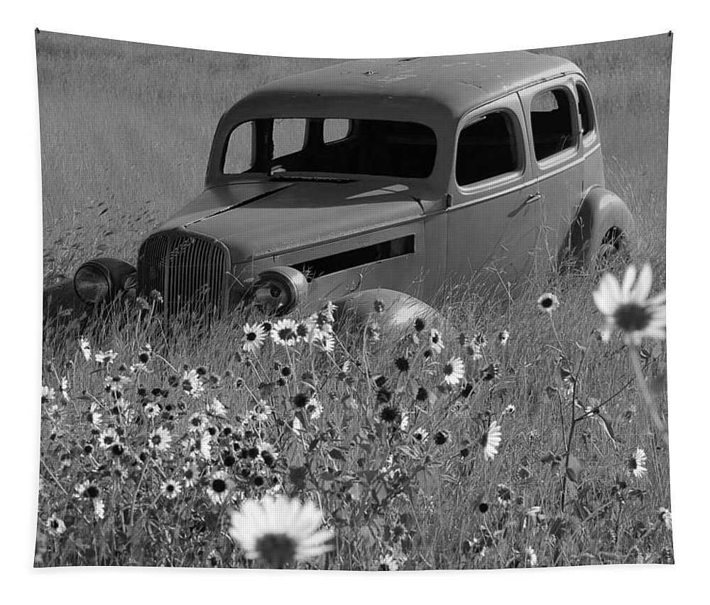 Car Tapestry featuring the photograph Old Car by Leticia Latocki